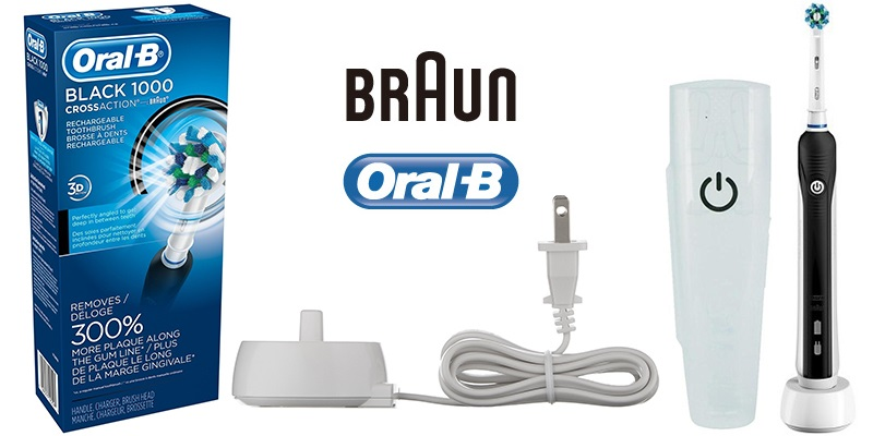 Oral B Black Pro 1000 Power Rechargeable Electric
